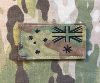 LaPatcheria Australia Flag Patch Multicam Reverce
