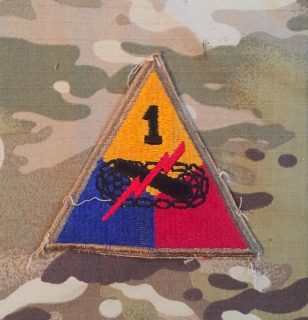 US Army 1. Armed Division WW II. Patch nášivka