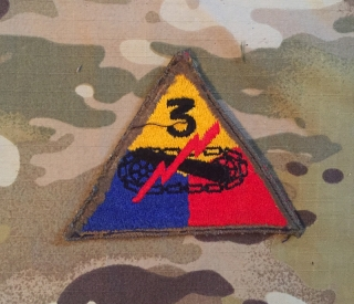 US Army 3. Armored Division WW II. Patch nášivka