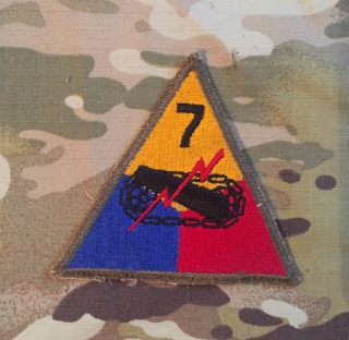 US Army 7. Armored Division WW II. Patch nášivka