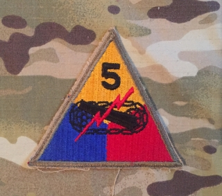 US Army 5. Armored Division WW II. Patch nášivka
