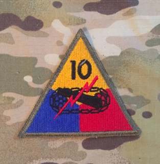 US Army 10. Armored Division WW II. Patch nášivka