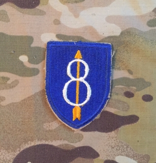 US Army 8th Infantry Division WW II. Patch nášivka