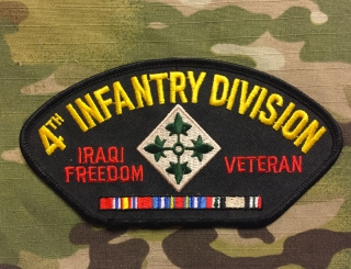 4th Infantry Division Iraqi Freedom Veteran Patch nášivka